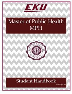 Master of Public Health MPH