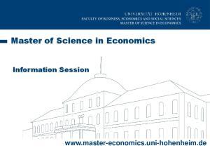 Master of Science in Economics