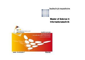 Master of Science in Informationstechnik