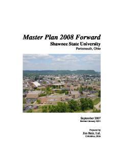 Master Plan 2008 Forward Shawnee State University Portsmouth, Ohio