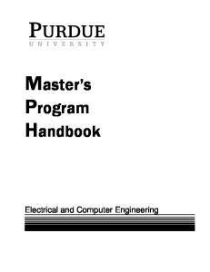 Master s Program Handbook