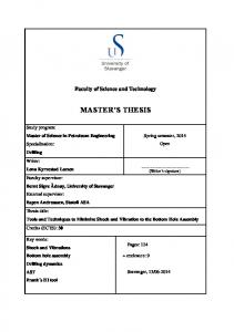 MASTER S THESIS. Faculty of Science and Technology