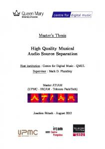 Master s Thesis. High Quality Musical Audio Source Separation
