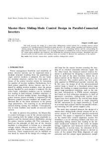 Master-Slave Sliding-Mode Control Design in Parallel-Connected Inverters