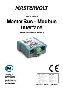 MasterBus - Modbus Interface