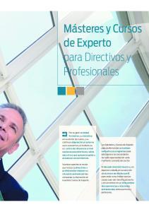 Másteres y Cursos de Experto para Directivos y Profesionales