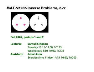 MAT Inverse Problems, 6 cr
