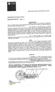 MAT.: Ratifica contrato de arrendamiento que indica