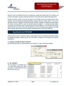 Matching Revit Design with Excel Program