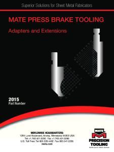 MATE PRESS BRAKE TOOLING