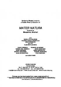 MATER NATURA Directed by Massimo Andrei