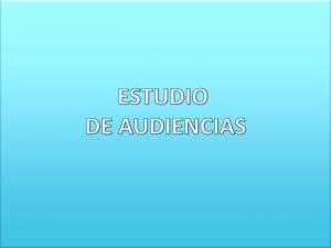 Materia: Estudios de Audiencias