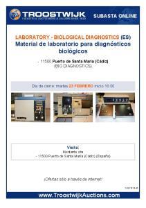 Material de laboratorio para diagnósticos biológicos