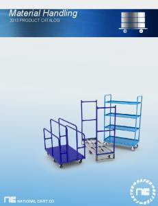 Material Handling 2013 PRODUCT CATALOG