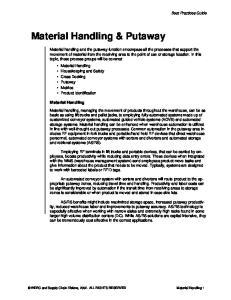 Material Handling & Putaway