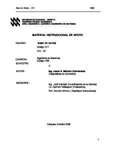 MATERIAL INSTRUCCIONAL DE APOYO