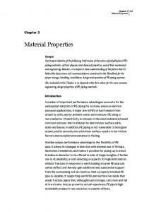 Material Properties. Chapter 3