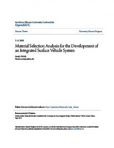 Material Selection Analysis for the Development of an Integrated Surface Vehicle System