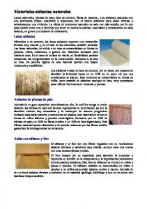 Materiales aislantes naturales