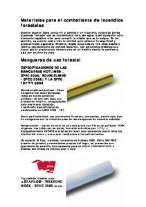 Materiales para el combatiente de incendios forestales