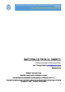 MATERIALES PARA EL DABATE: