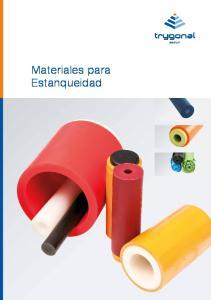 Materiales para Estanqueidad