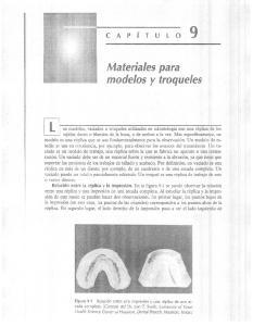 Materiales para modelos y. troqueles