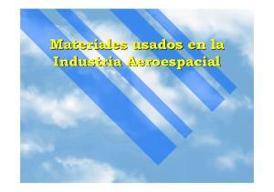 Materiales usados en la Industria Aeroespacial