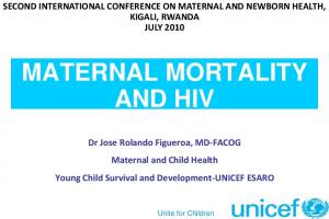 MATERNAL MORTALITY AND HIV