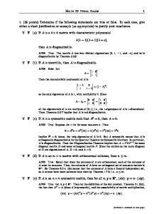 Math 22 Final Exam 1