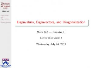 Math 240 Calculus III