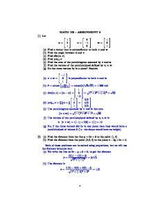 MATH ASSIGNMENT 5. v = 6