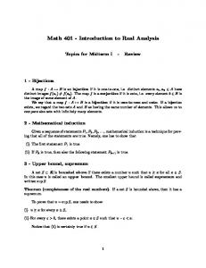 Math Introduction to Real Analysis