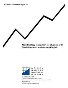 Math Strategy Instruction for Students with Disabilities who are Learning English