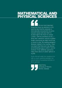 MATHEMATICAL AND PHYSICAL SCIENCES