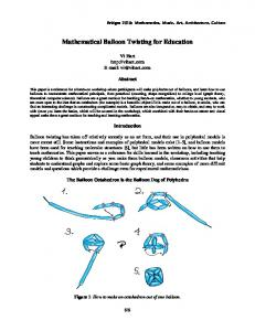 Mathematical Balloon Twisting for Education