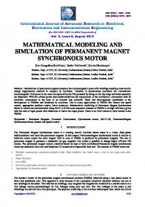 MATHEMATICAL MODELING AND SIMULATION OF PERMANENT MAGNET SYNCHRONOUS MOTOR
