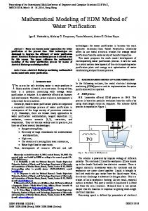 Mathematical Modeling of EDM Method of Water Purification
