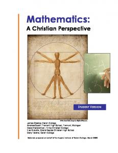 Mathematics: A Christian Perspective
