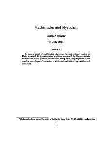 Mathematics and Mysticism
