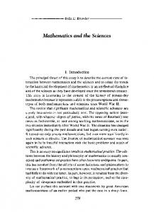 Mathematics and the Sciences