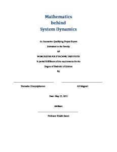 Mathematics behind System Dynamics