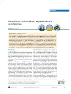 Mathematics for streamlined biofuel production from unicellular algae