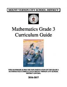 Mathematics Grade 3 Curriculum Guide