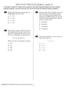 Mathematics Session 2