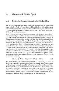 Mathematik für die Optik
