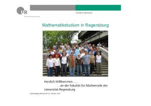 Mathematikstudium in Regensburg