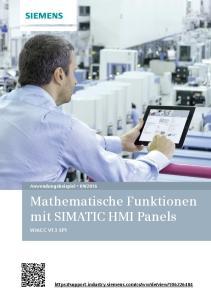Mathematische Funktionen mit SIMATIC HMI Panels