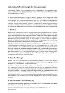 Mathematische Modellierung in der Atemgasanalyse