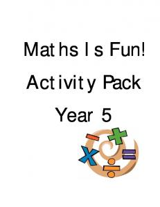 Maths Is Fun! Activity Pack Year 5